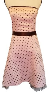Jessica McClintock Gunne Sax Polka Dot Tulle Prom Dress