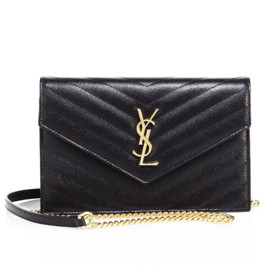 d9fc19c08d76 Gold hardware ONLY in this design ysl chain envelope clutch bag