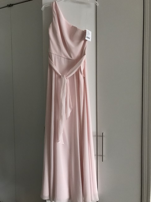 Item - Peony (Pink) Flat Chiffon Laurie G894f One Shoulder Formal Bridesmaid/Mob Dress Size 4 (S)