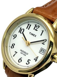 Timex Timex T2J761 Women's Easy Reader Brown Leather Band Watch Indiglo