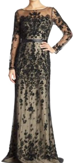Item - and Nude Ills Embellished Gown Long Formal Dress Size 8 (M)