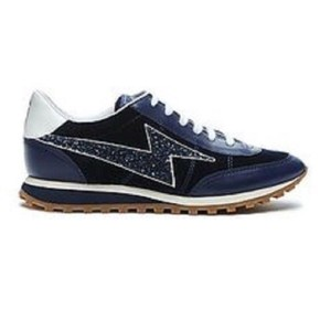 Marc Jacobs blue suede with leather trim, glitter Athletic