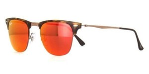 Ray-Ban Ray Ban Unisex Squared Sunglasses RB8056 175/6Q Tortoise Frame Red