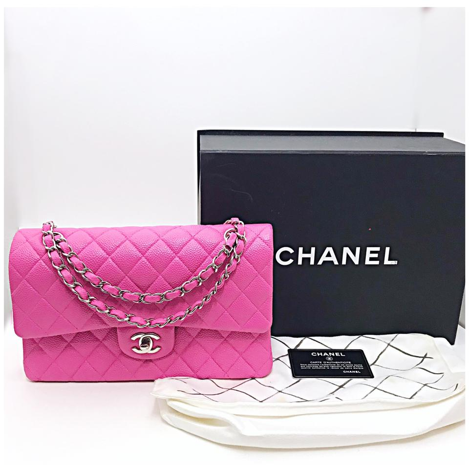 a896bad3b609b9 Chanel Classic Double Flap Matte Caviar Pink Leather Shoulder Bag - Tradesy