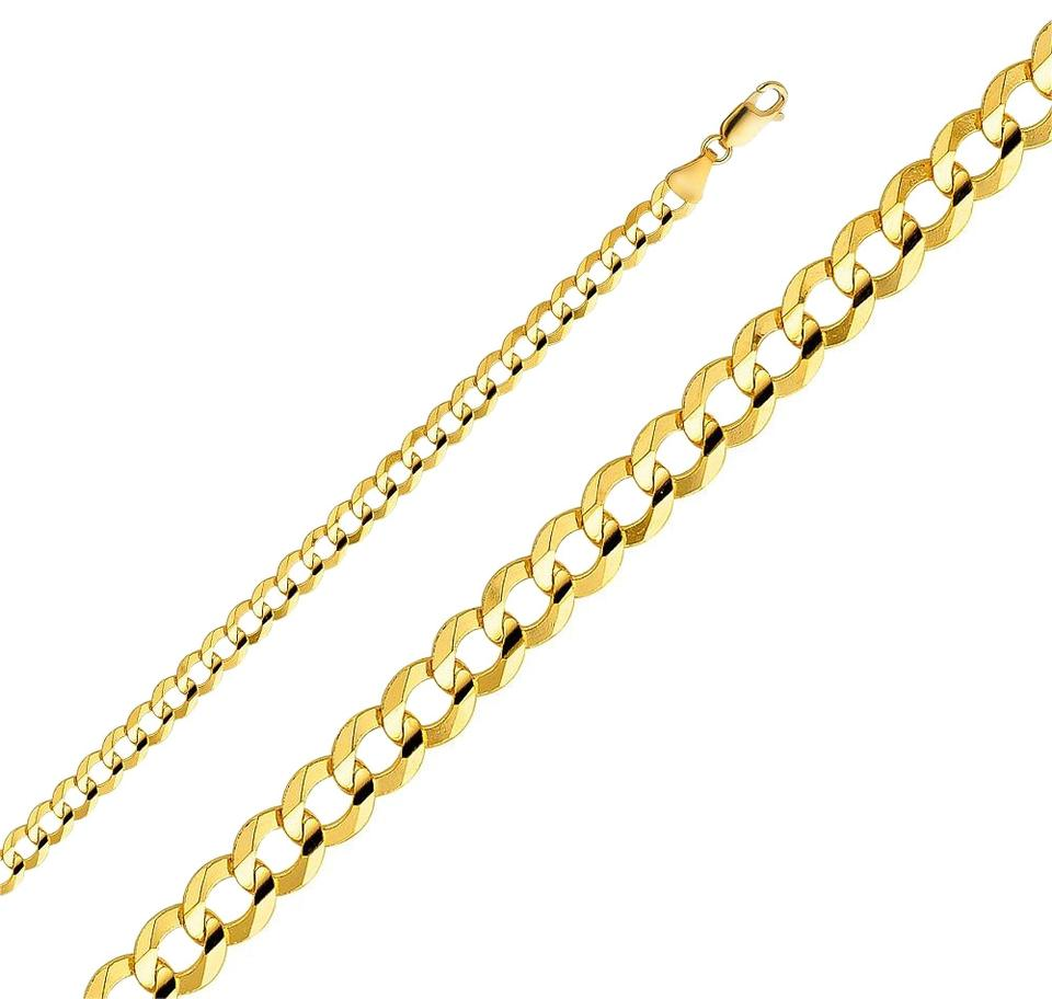 Cuban Link Chain For Sale >> Yellow 14k Solid 5 7mm Cuban Link Chain Men 26 Necklace 69 Off Retail