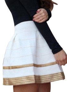Alythea Mini Skirt ivory and gold