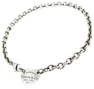 Tiffany & Co. BEAUTIFUL! Tiffany & Co. Return to Tiffany Heart Necklace 15""