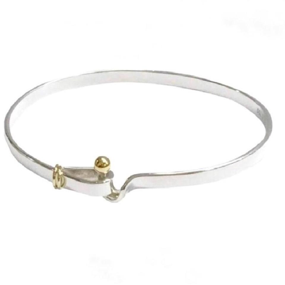 gold plated and bracelet silver bracelets bangle date with monogram on infinity bangles en sterling