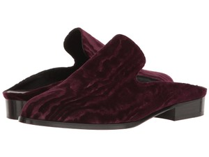 Robert Clergerie Flats French Slide Velvet Purple Mules