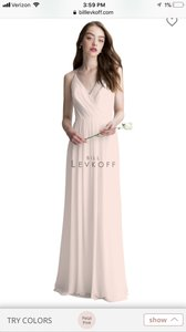 Bill Levkoff Petal Pink Chiffon 1403 Formal Bridesmaid/Mob Dress Size 18 (XL, Plus 0x)