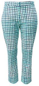 Kate Spade Spring Luxury Capri/Cropped Pants Navy/Aqua Print