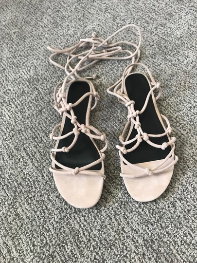 Rebecca Minkoff Lace-up Nude Sandals Image 4