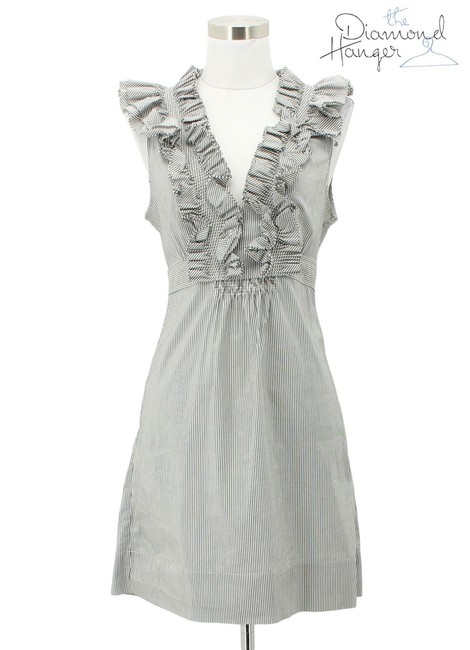 Item - Gray A131 Designer Small S Mid-length Night Out Dress Size 4 (S)