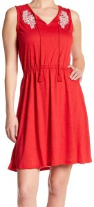 Joe Fresh short dress Red on Tradesy