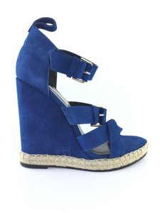 Balenciaga Blue Wedges