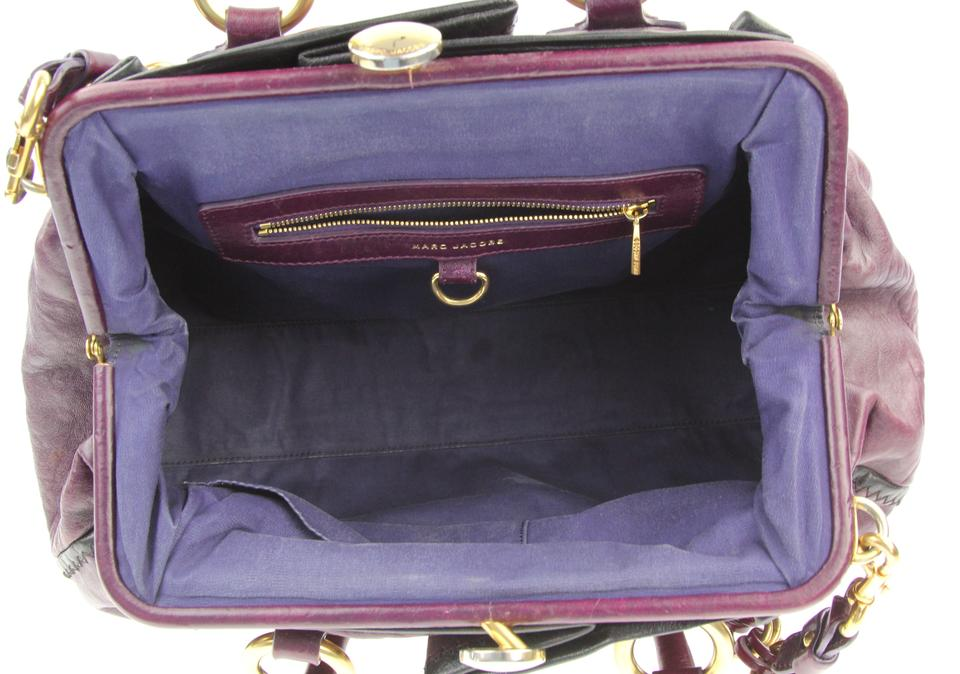 61ef7aaa7707 Marc Jacobs Safety Pin Stam Purple Leather Satchel - Tradesy