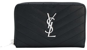 Saint Laurent Medium Matelasse Monogram Zip