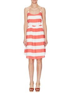 Paper Crown short dress White & Coral Pink / Red on Tradesy