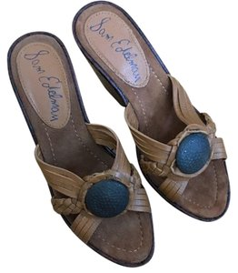 Sam Edelman Sandals Platform Leather Saddle Wedges