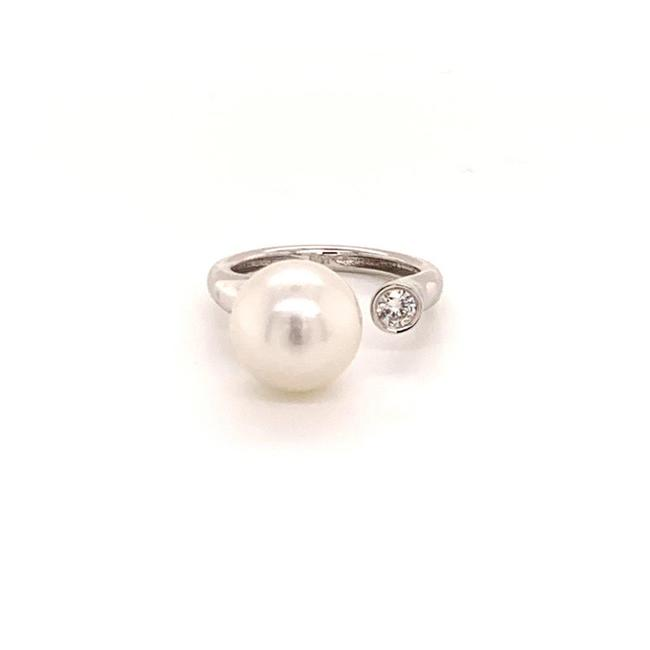 Unbranded White Diamond South Sea Pearl 14k Gold 11.55 Mm Women Certified 813002 Ring Unbranded White Diamond South Sea Pearl 14k Gold 11.55 Mm Women Certified 813002 Ring Image 1