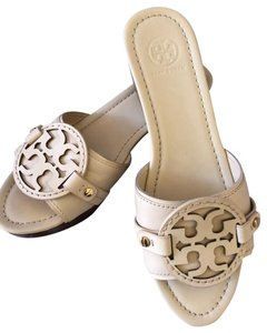 Tory Burch Slides Magdalena Vanilla Cream Wedges