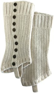 Cartonnier Anthropologie Cream Lambswool legwarmers with buttons