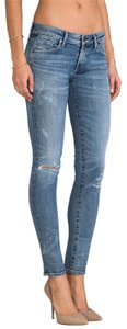 Citizens of Humanity Ripped Long Summer Racer Skinny Jeans-Medium Wash