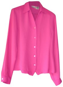 Liz Baker Tall Button Down 10t Longsleeve Top Pink