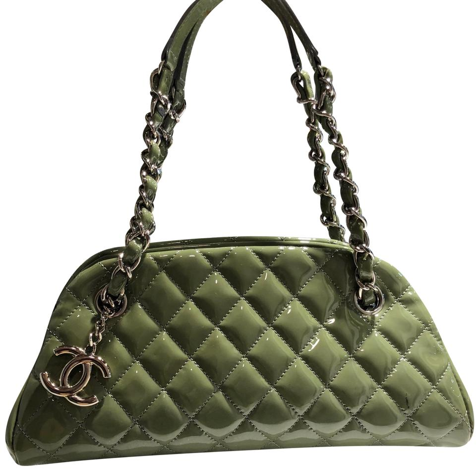 3dacd05c9e3b1a Chanel Mademoiselle Bowling Bag Olive Quilted Small Silver Hardware ...