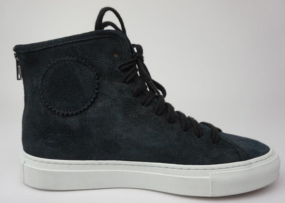 908a74e603c4 Common Projects Black Tournament High Top Sneakers Suede Sneakers ...