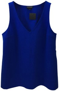 Club Monaco Spring Summer Fall Casual Polyester Top COBALT