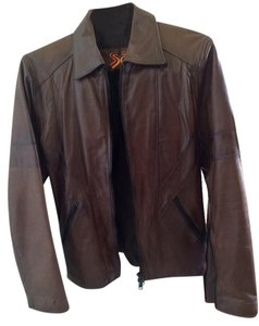 soul revolver Brown Leather Jacket