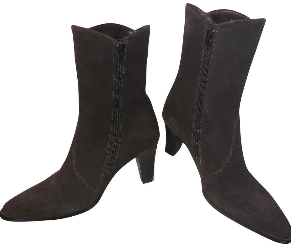 Brown Suede High High High Heeled Boots/Booties e323a2