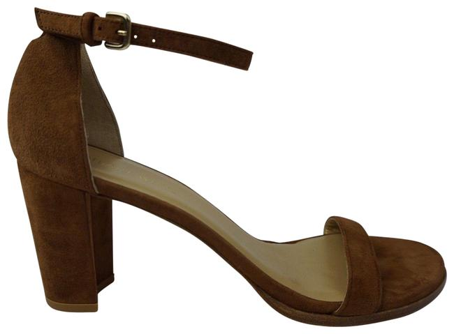 Item - Brown Nearlynude Ankle Strap Suede Sandals Size US 10 Narrow (Aa, N)