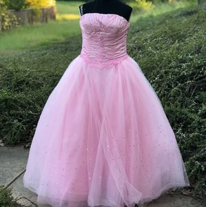 Mary's Bridal Pink Pc Mary Sweet 16 Quincenera Formal Wedding Dress Size 14 (L)