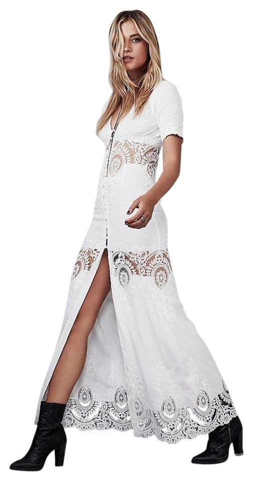 547576310c Stone Cold Fox White Free People Octavia Gown Long Cocktail Dress ...