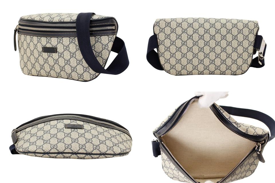 a77f029c35d5 Gucci Monogram Gg Waist Pouch Fanny Pack Pvc 866641 Navy Blue Supreme  Canvas Shoulder Bag - Tradesy