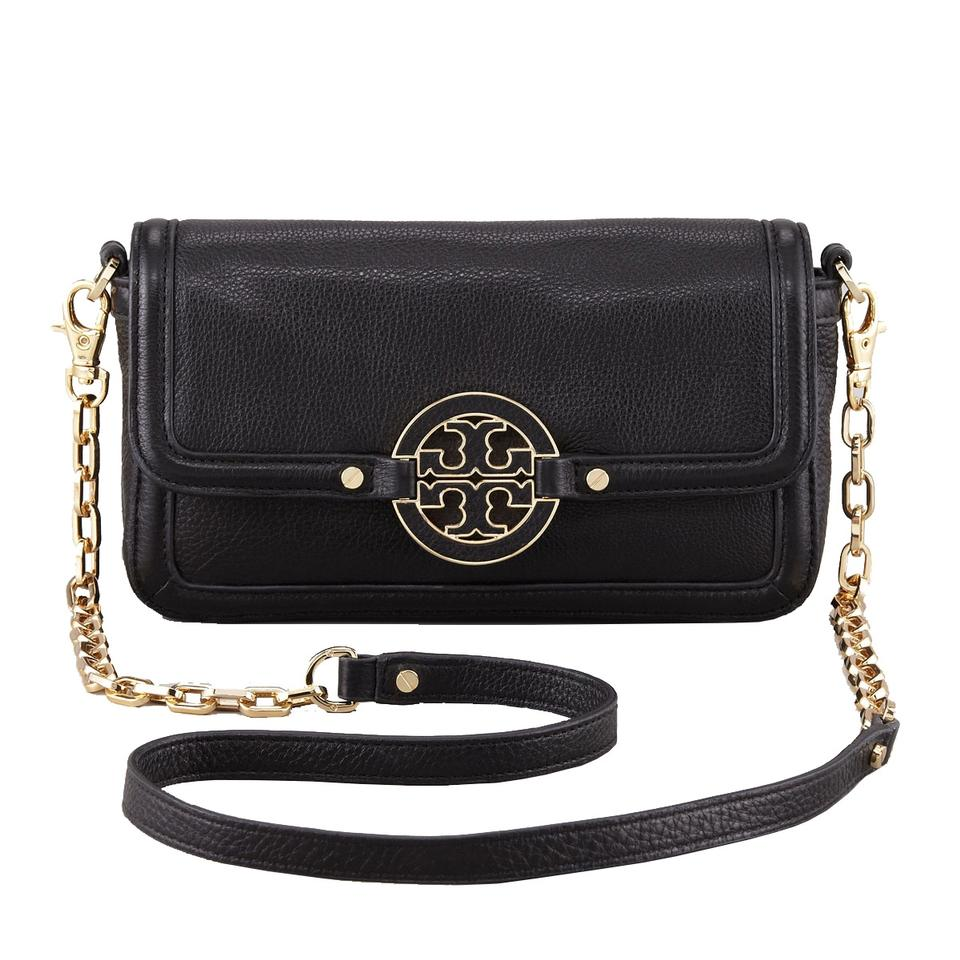 3af8b72a1a4 Tory Burch Amanda Mini Black Leather Cross Body Bag - Tradesy