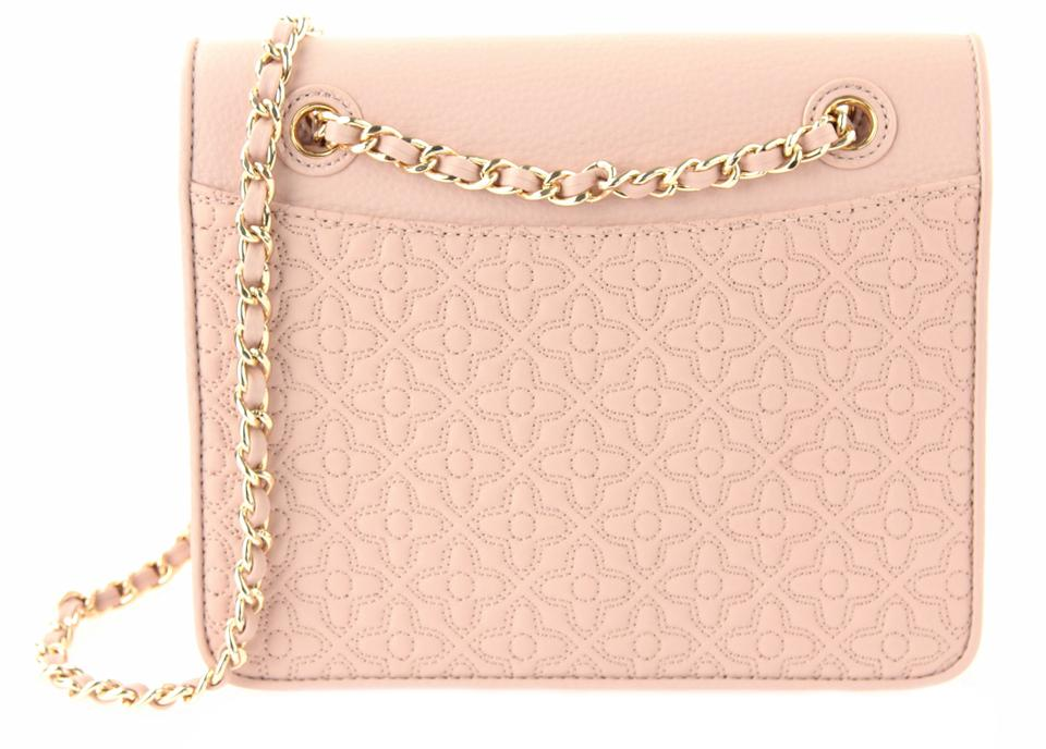 b8bd1f03deec Tory Burch Bryant Medium Light Oak Pink Leather Cross Body Bag - Tradesy