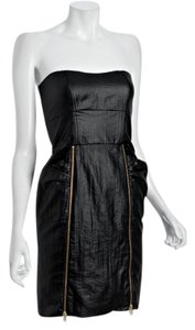 Loeffler Randall Designer Zipper Leather Dress
