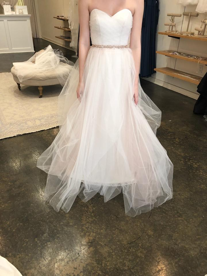 ffd7477aabe1 Blush by Hayley Paige Ivory/Blush Lace/Tulle Candi/1550 Formal Wedding Dress  ...