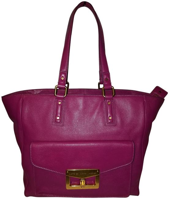 Item - Bianca Hayley Fuschia Pink Leather Tote