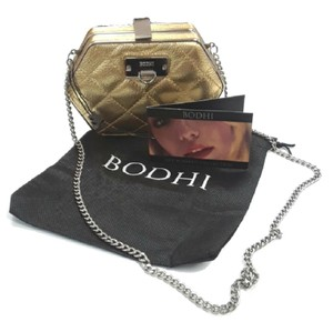 Bodhi Quilted Leather Posh Gold Clutch
