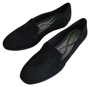 Bare Traps Loafers Suede Memory Foam Black Flats