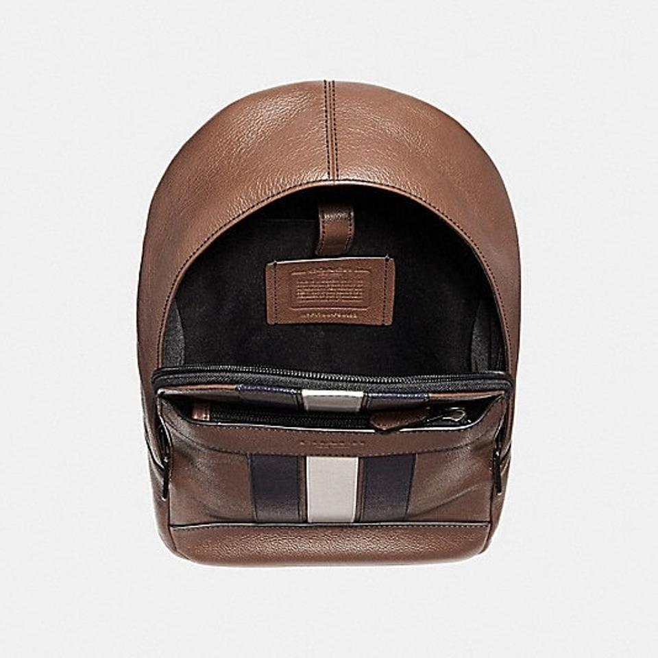4f6dcf642488 Coach Men s Charles Pack with Varsity Stripe Saddle Calf Leather ...