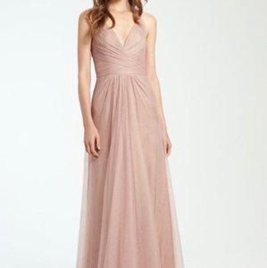 Monique Lhuillier Rose Tulle 450361 Feminine Bridesmaid/Mob Dress Size 10 (M)