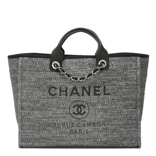 Item - Deauville Large Charcoal Grey Canvas Tote