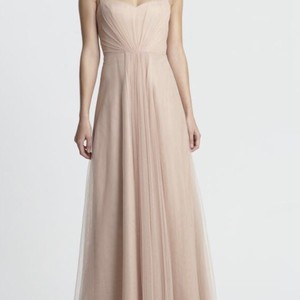 Monique Lhuillier Bamboo Tulle 450370 Feminine Bridesmaid/Mob Dress Size 10 (M)