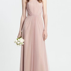 Monique Lhuillier Rose Tulle 450375 Modern Bridesmaid/Mob Dress Size 10 (M)