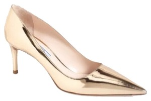 Prada Platino (Gold) Pumps